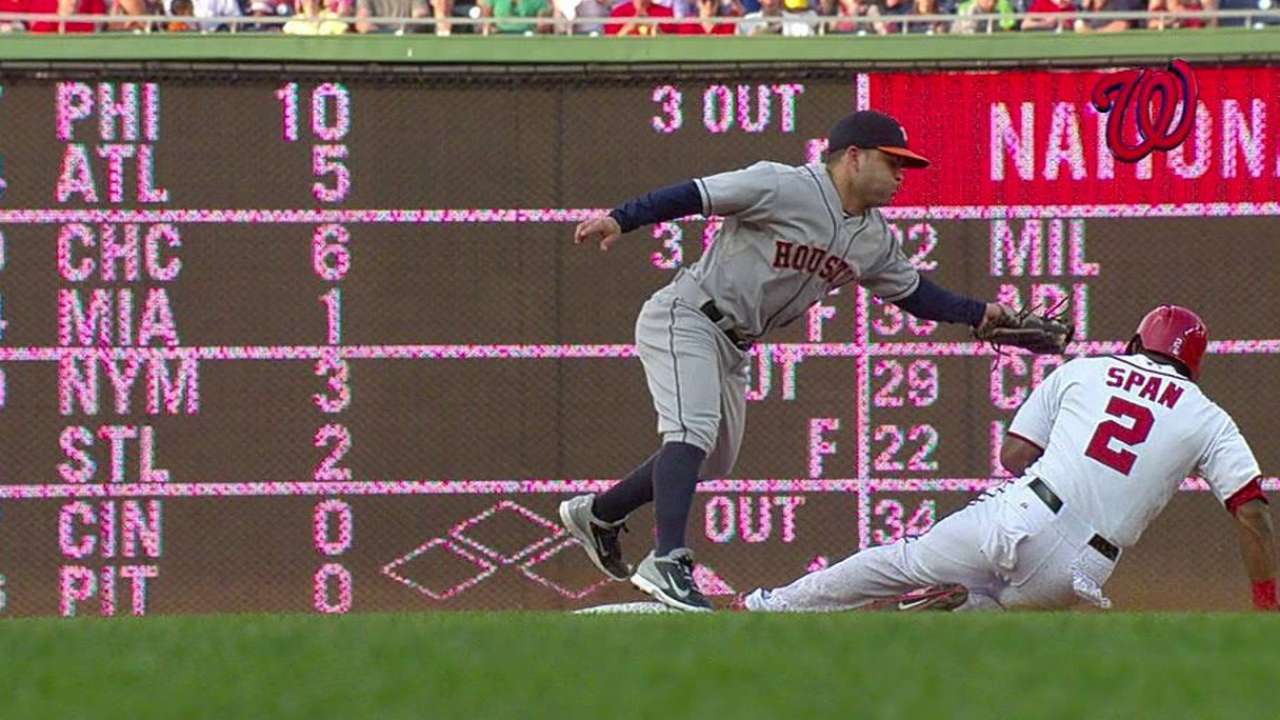 Nationals win challenge in first inning against Astros