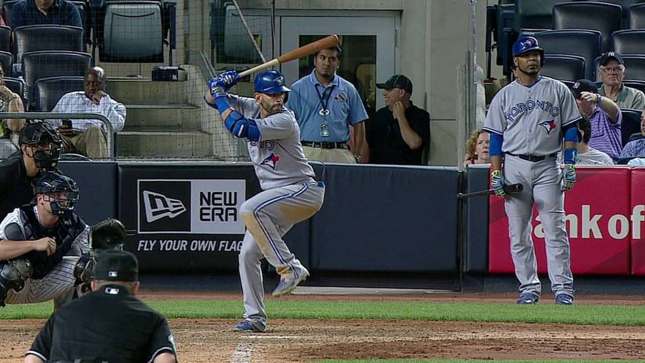 Bautista notches 1,000th hit of career in defeat