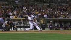 Medica's clutch hit lifts Padres on tribute night