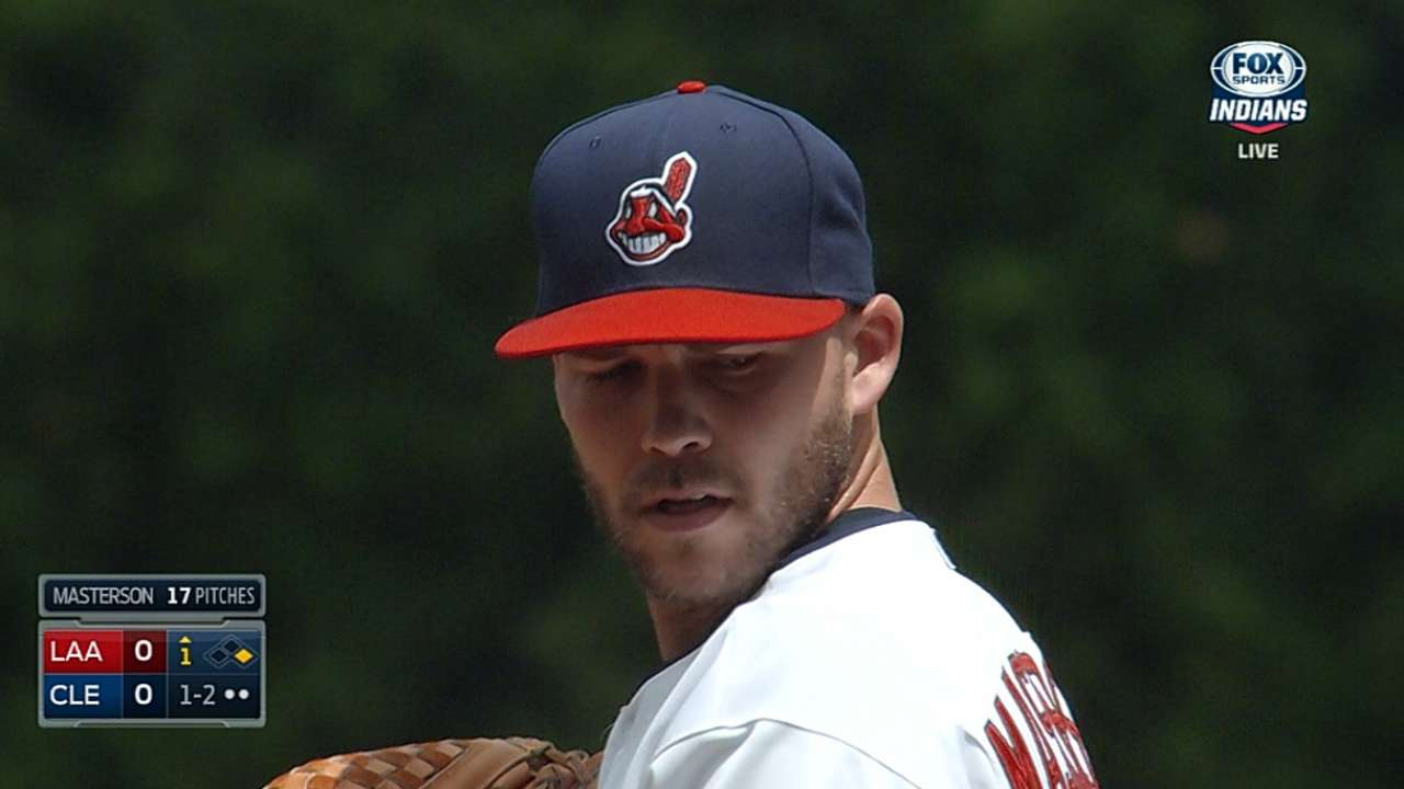 Masterson goes on DL to recover from knee woes