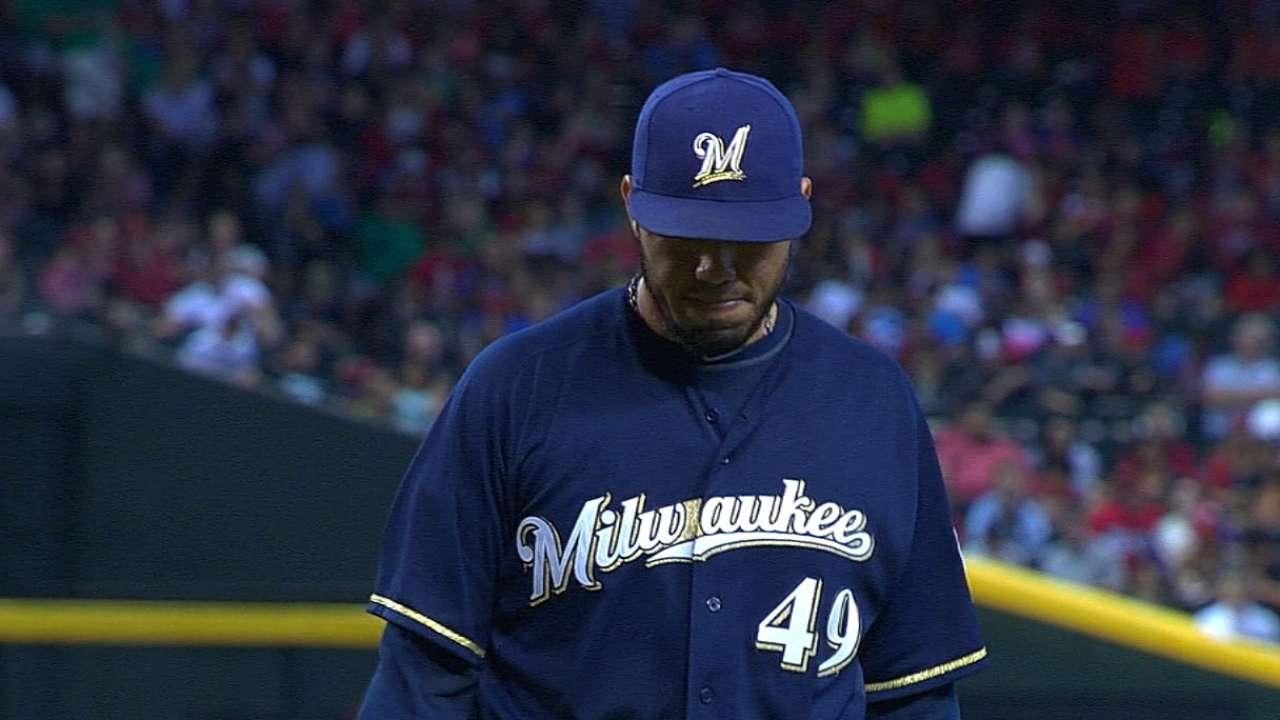 Buena labor de Gallardo guió triunfo de Milwaukee