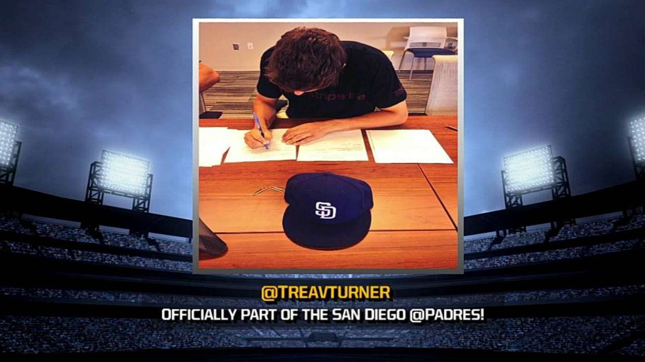 First-rounder Turner signs with Padres