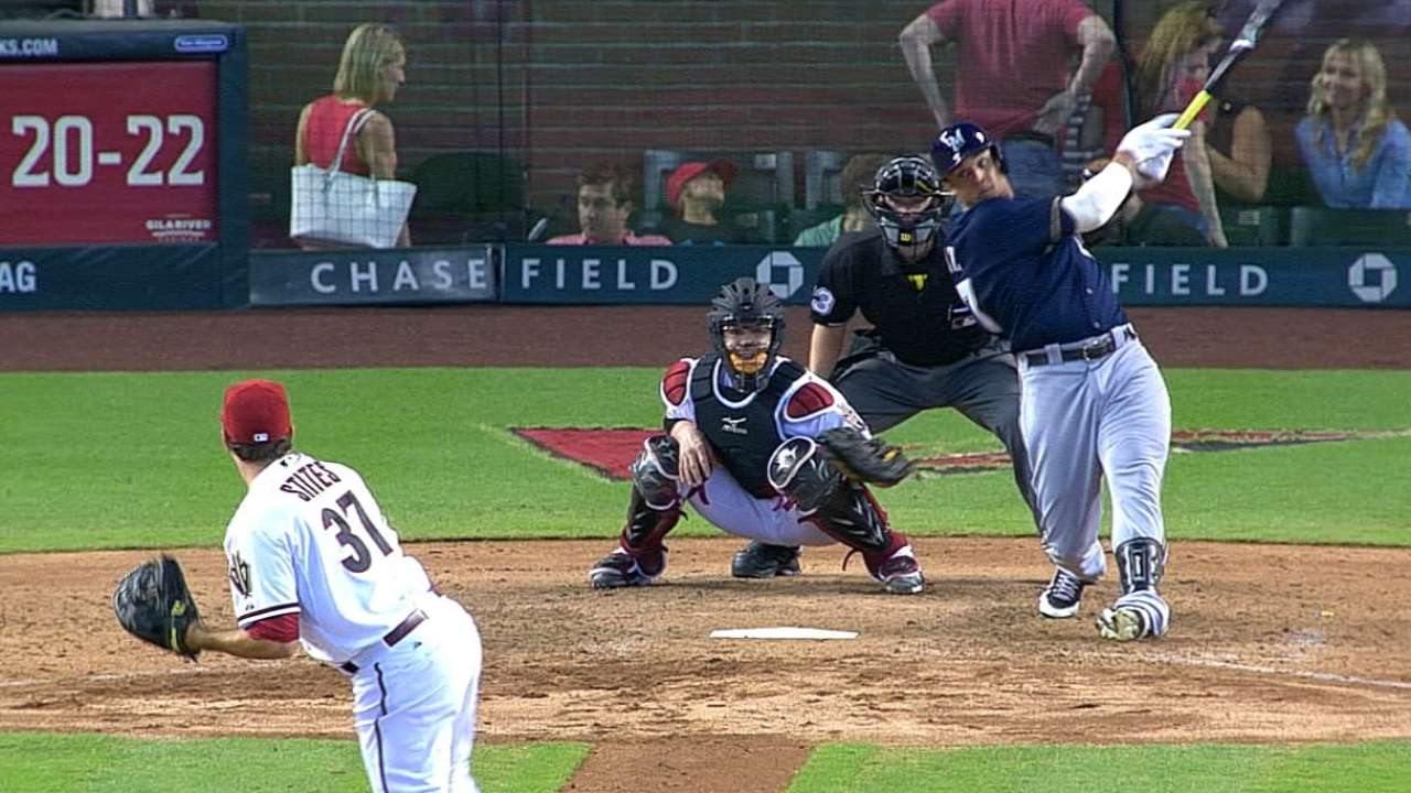 Gomez extends on-base streak to 32, matches Yount