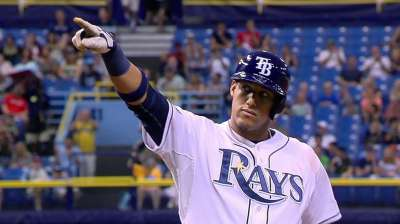 Escobar not ready to return to Rays' starting lineup