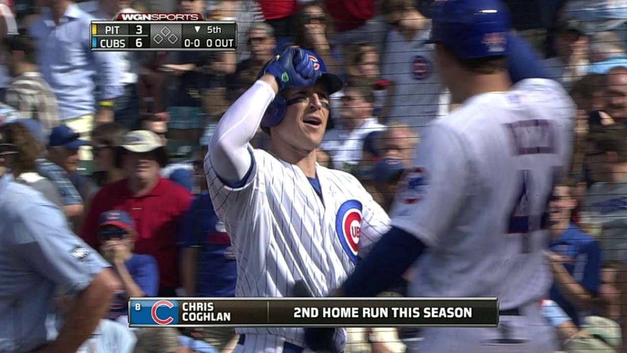 Active Coghlan puts stamp on Cubs' victory