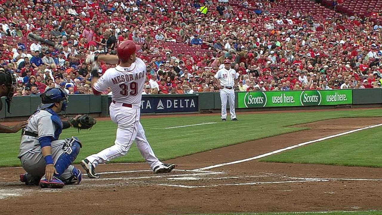 Reds blow eight-run lead in crushing loss to Blue Jays