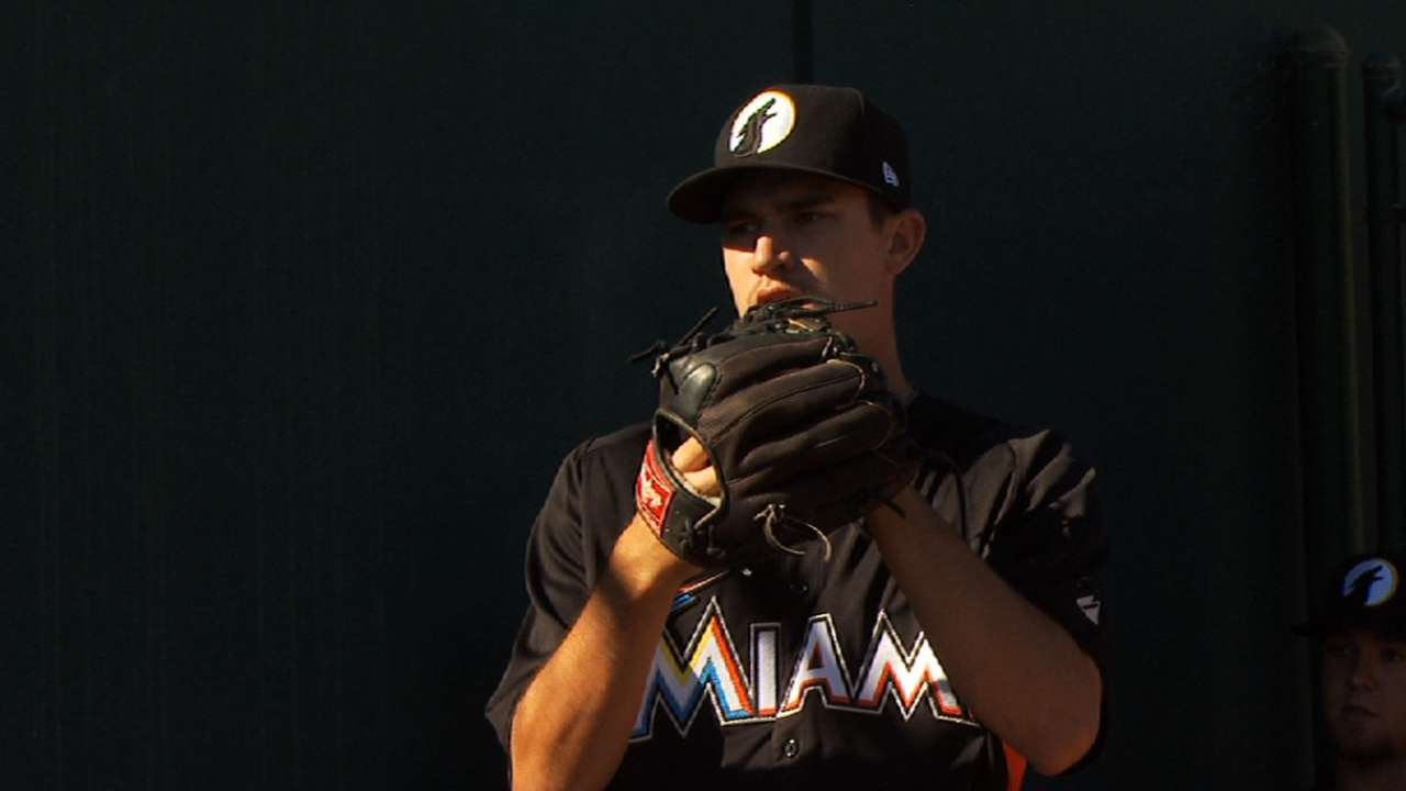Marlins' top prospect Heaney stays on rise