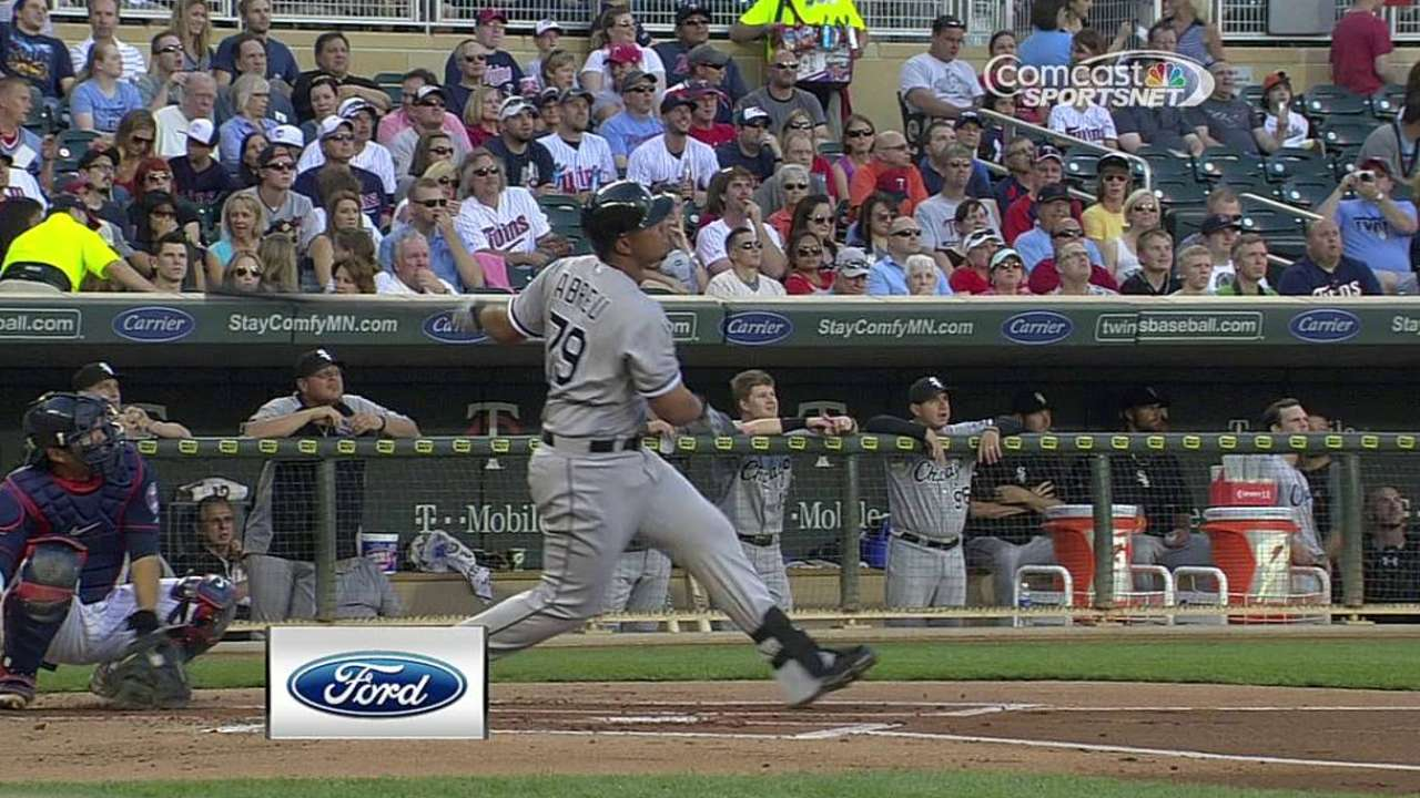 Abreu's numbers show balanced power hitter