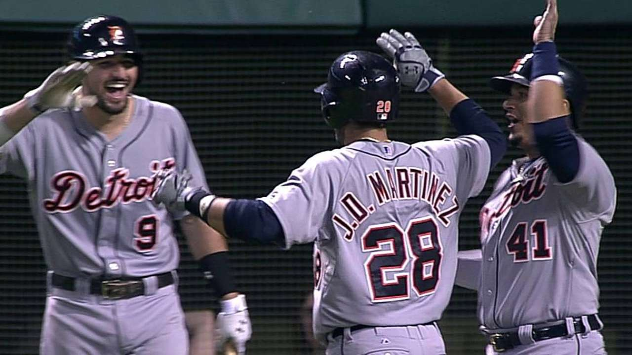 J.D. Martinez's hot streak helping carry Detroit