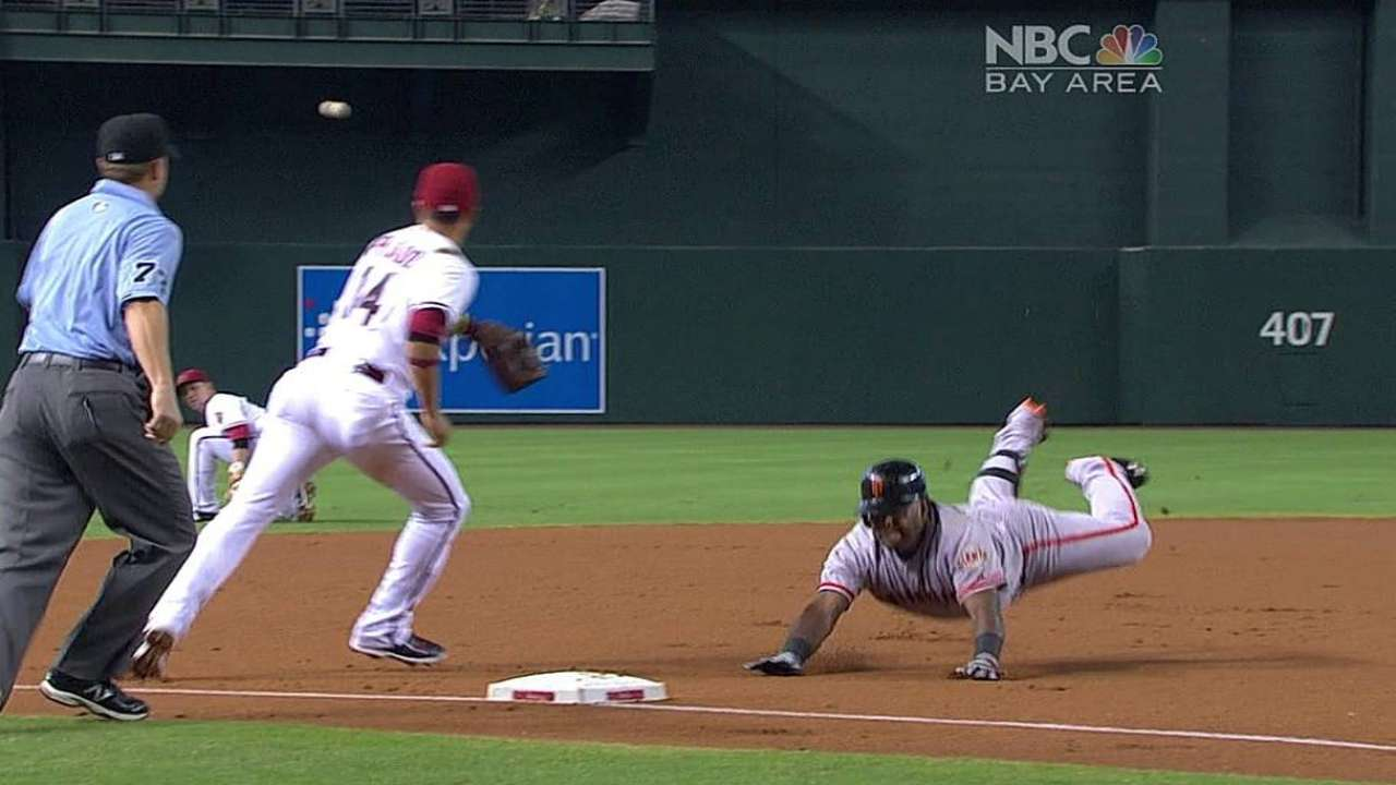 Giants' struggles continue in loss to D-backs