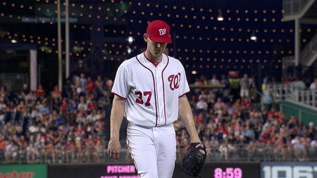 Williams: Nats not calling Strasburg's pitches