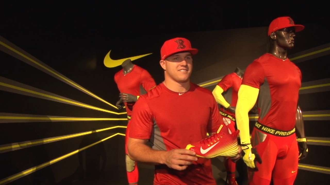 Happy feat: Trout in awe of his new Nike cleat