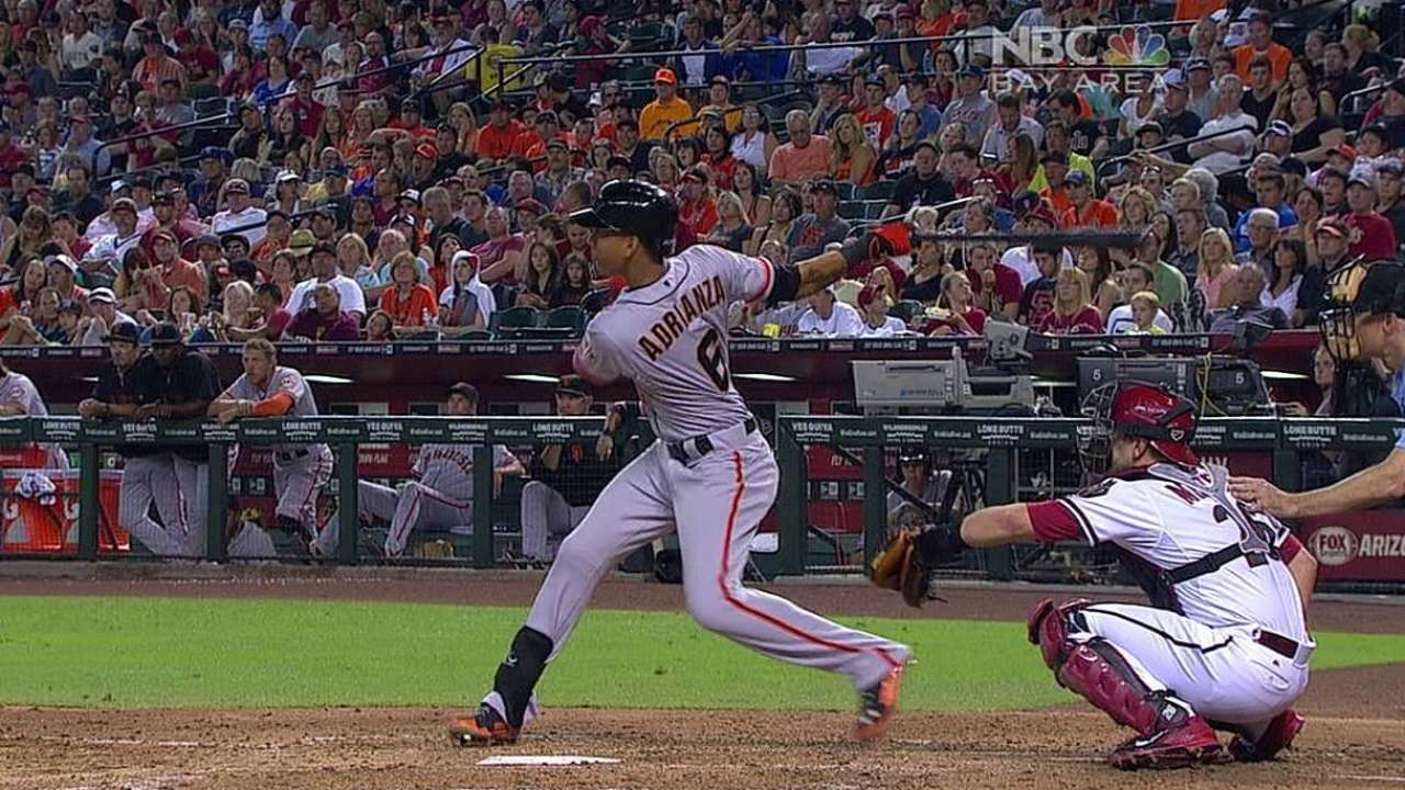 Hamstring injury puts Adrianza on disabled list