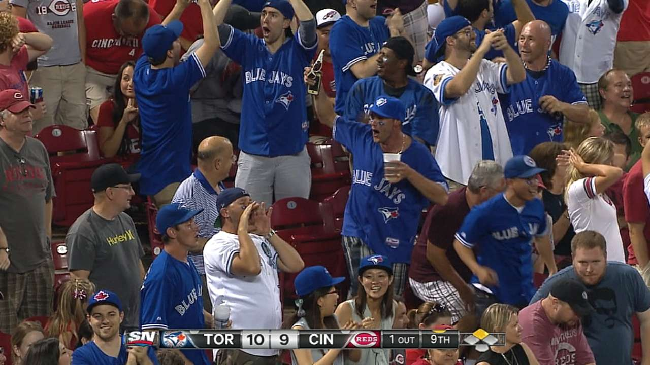 Blue Jays, Reds play one for the books