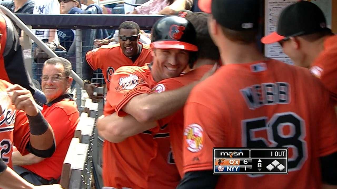 Orioles dieron cuatro HR y doblegaron a Yankees
