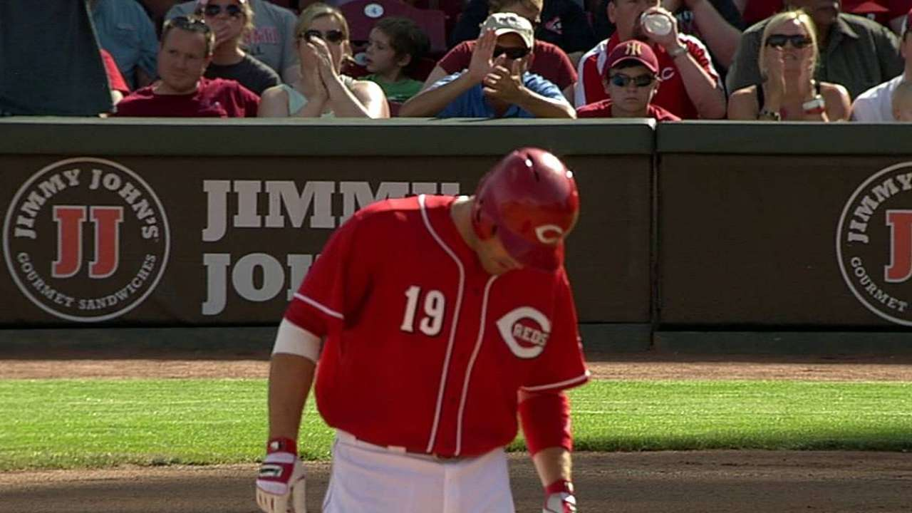Votto starts 12th straight since return