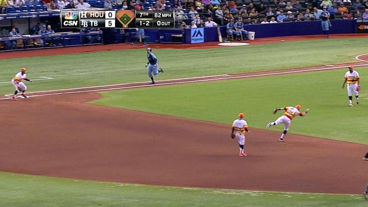 Astros se fueron en blanco ante Odorizzi y los Rays