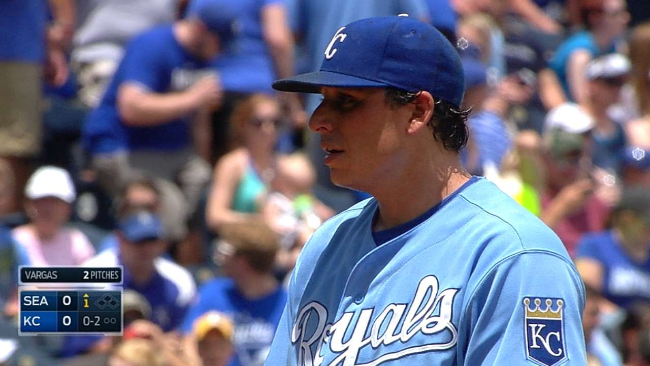 Vargas, Royals hit ninth-inning wall against M's
