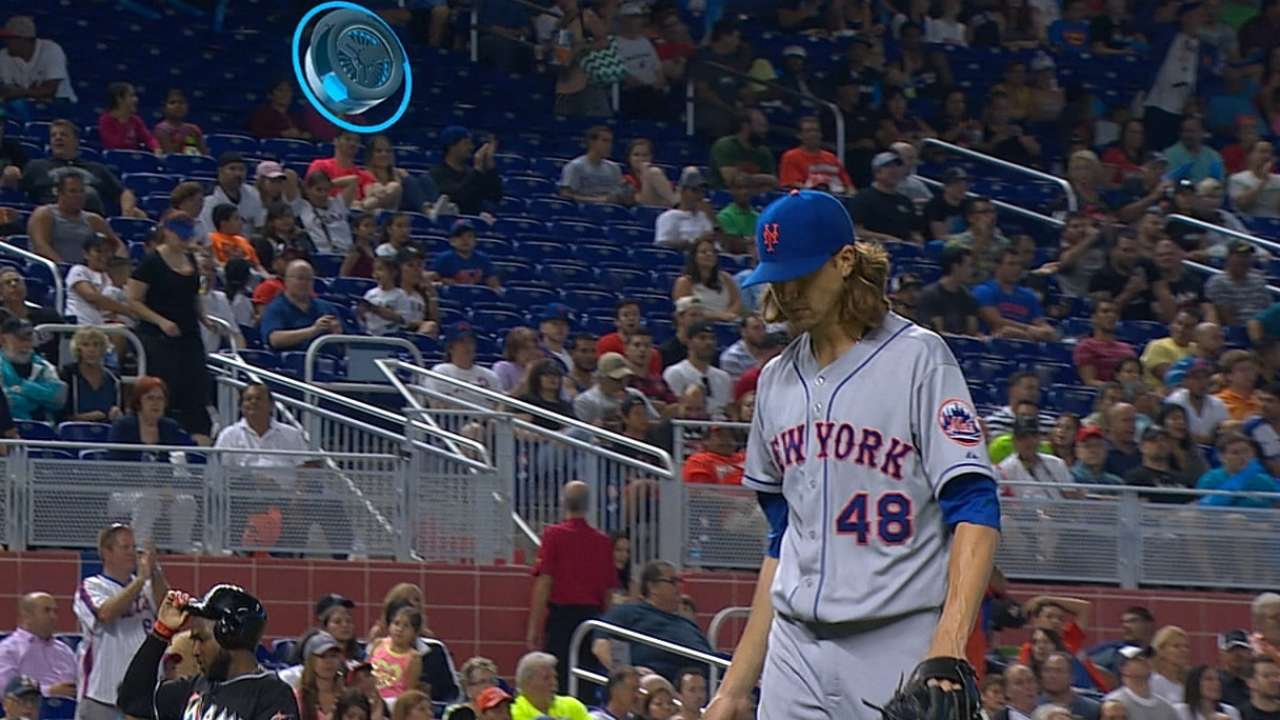 With seven scoreless, deGrom notches first win