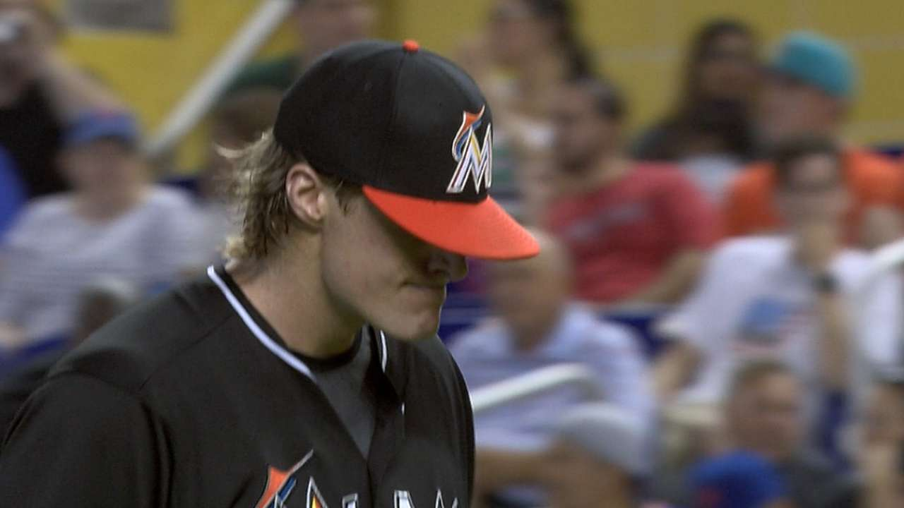 Marlins se fueron en blanco ante Jacob deGrom, Mets
