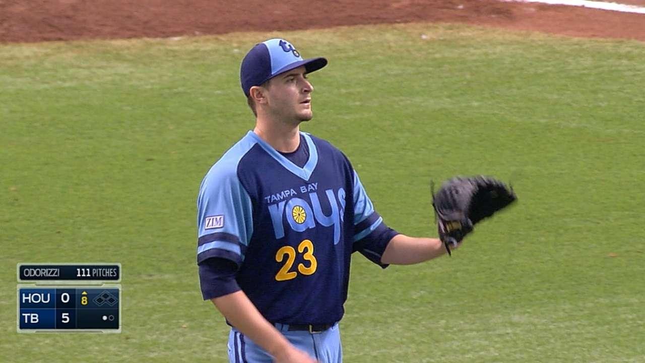 Tying longest start, Odorizzi one-hits Astros