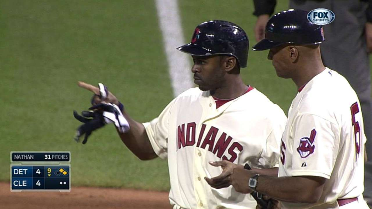 After Bourn comes through late, Tribe falls in extras