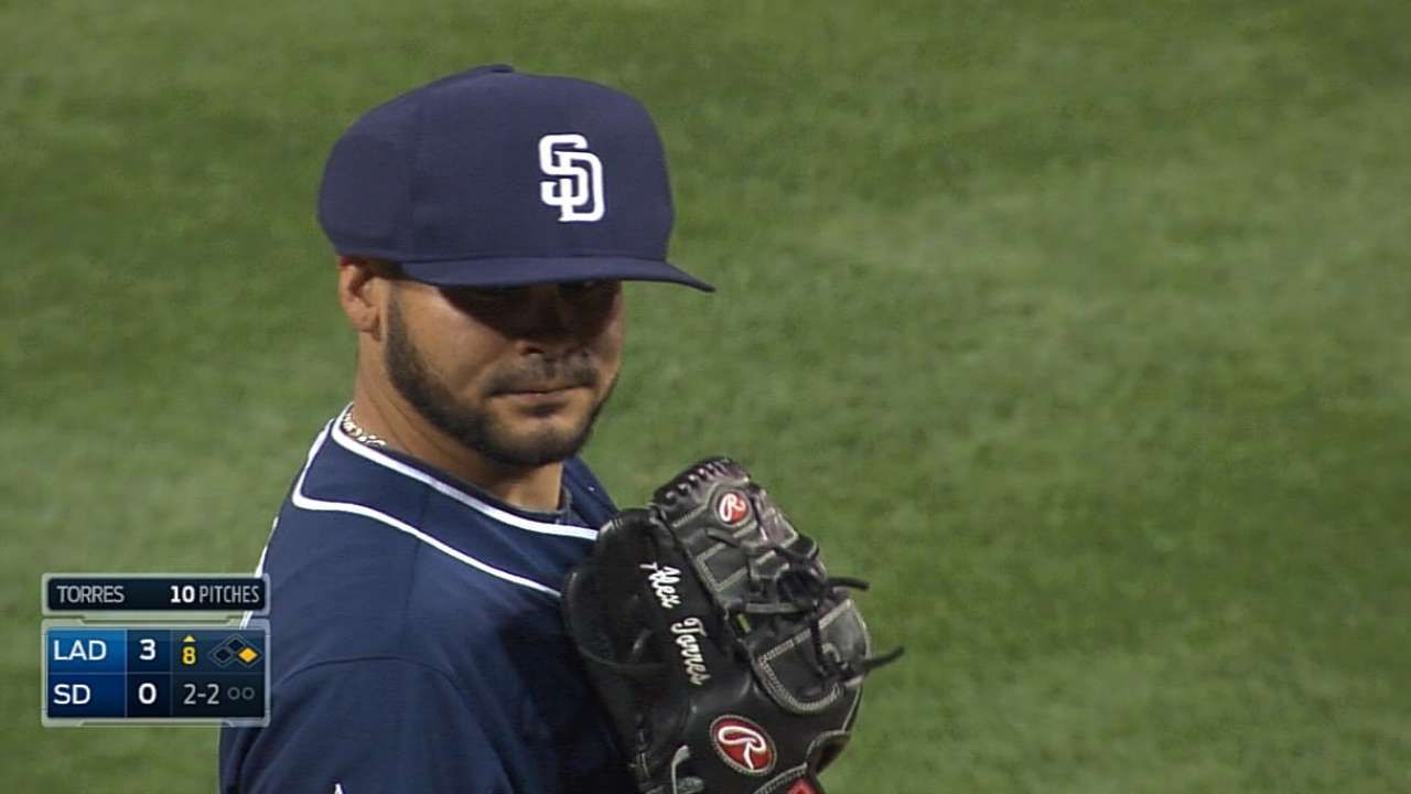Padres announcers on Torres' cap