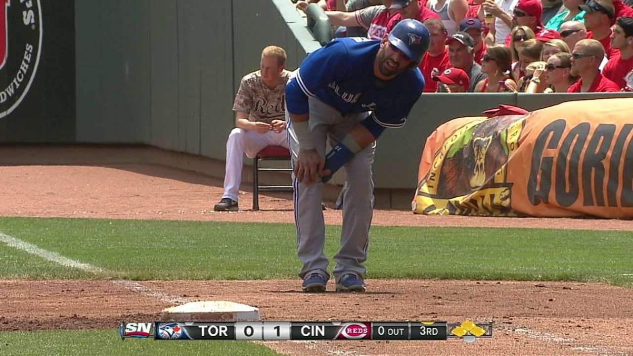 Bautista day to day with left leg tightness