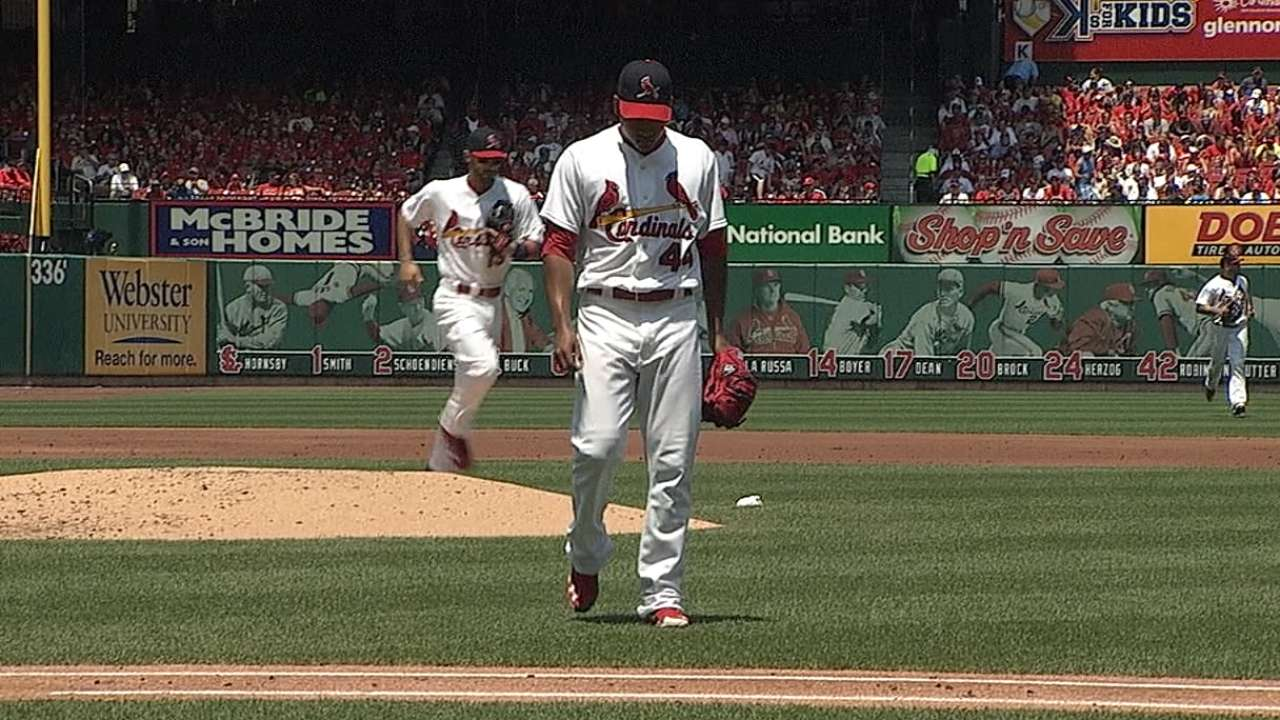 Behind Martinez, Cards end homestand on high note