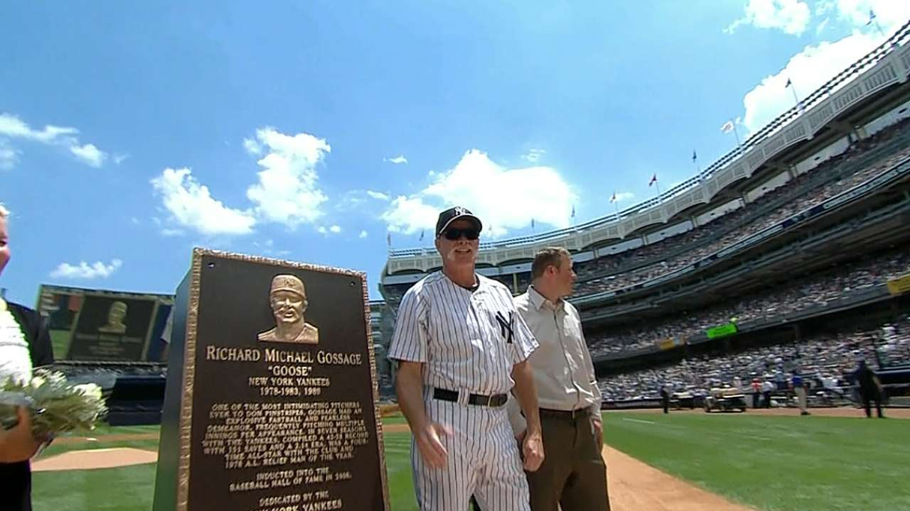 Goose honored on Old-Timers' Day