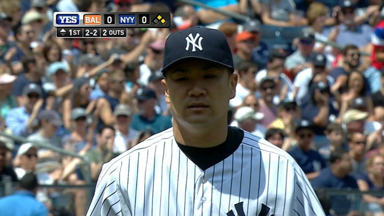Tanaka takes loss No. 2 as Yanks go quietly vs. O's