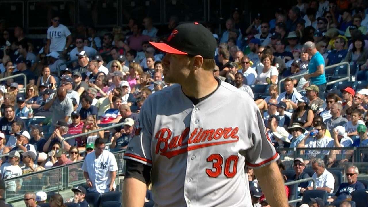 Tillman bests Tanaka as O's take series in NY