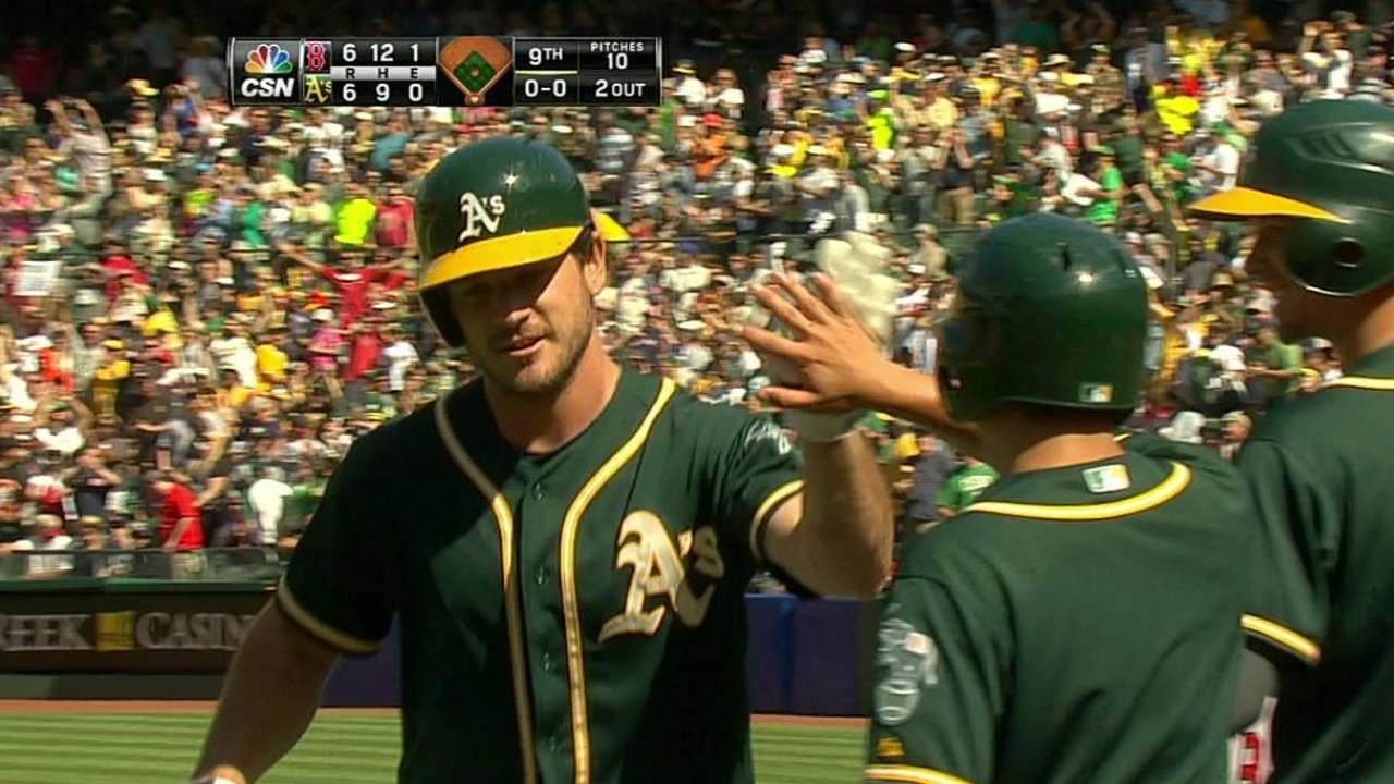 A's pull off stunning rally, then fall in 10th