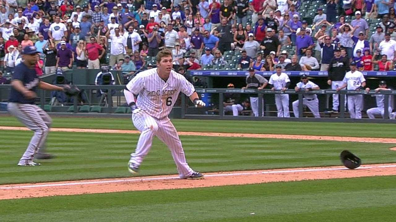Dickerson's stumble derails Rox's ninth-inning rally