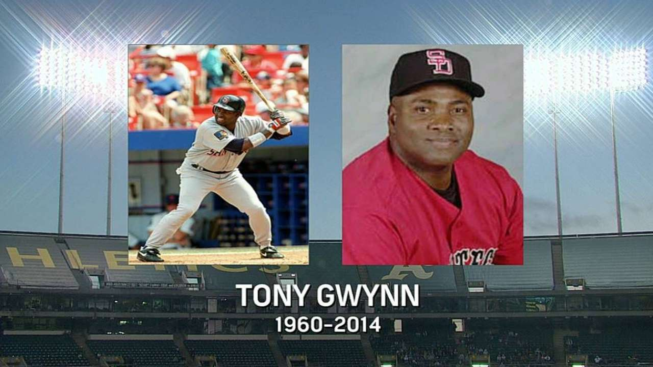 A's reflect on Gwynn's legacy, approach to game