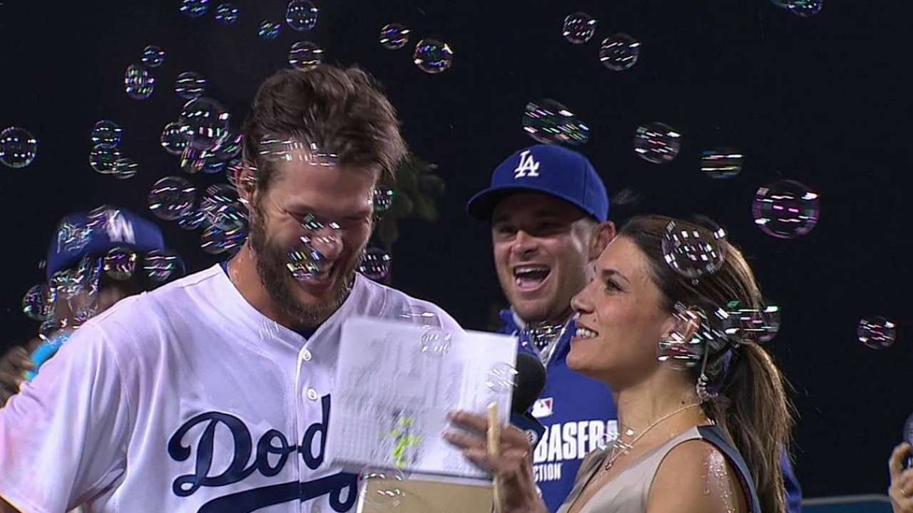 Ellis shares historic moment with best pal Kershaw