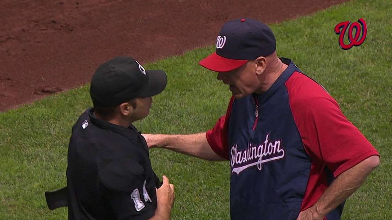 Williams ejected for first time as manager