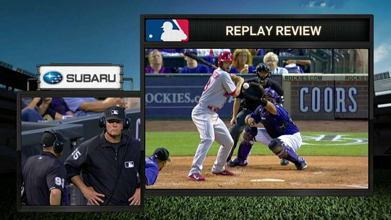 HBP call stands following Rockies' challenge