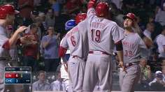 Mesoraco's slam in ninth seals win over Cubs