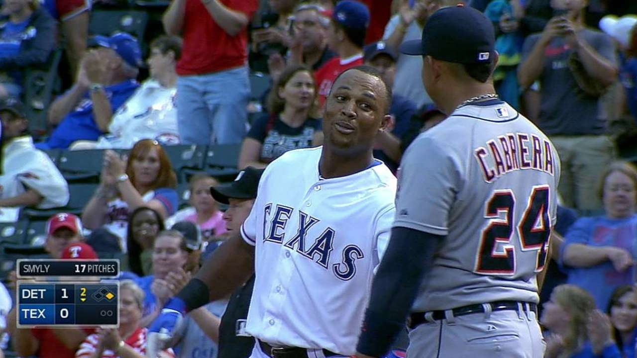 Beltre raps 2,500th career hit