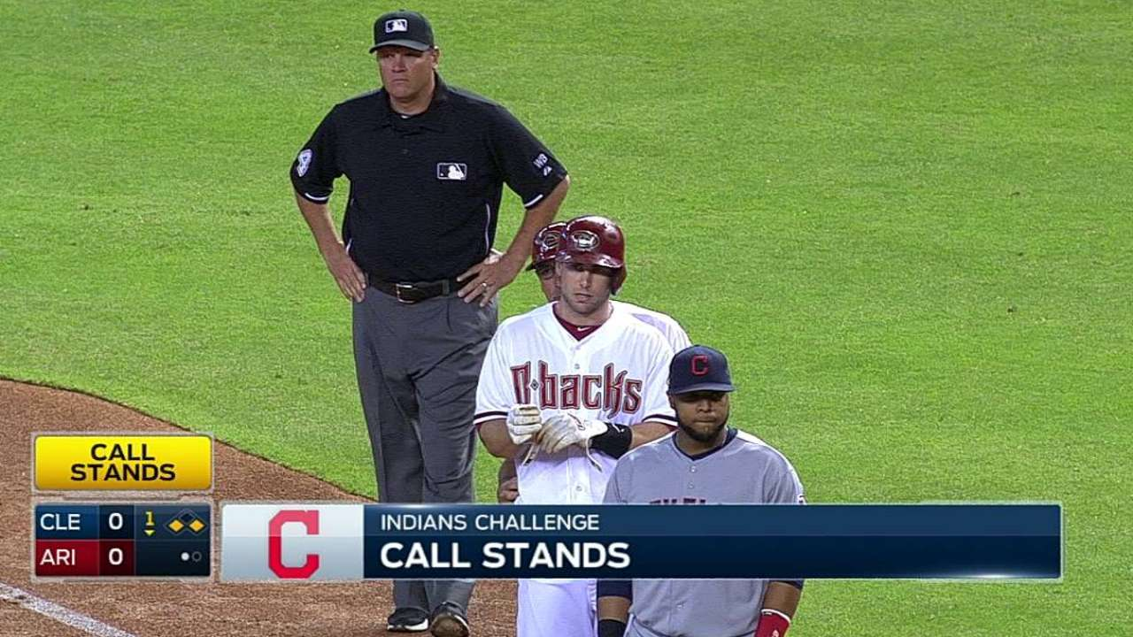 Francona loses challenge in first inning