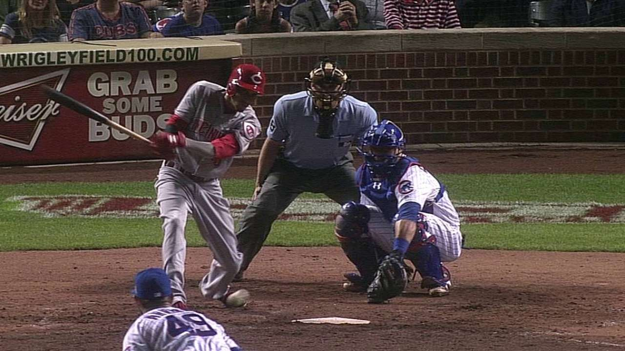 Offense comes alive too late as Reds fall to Cubs