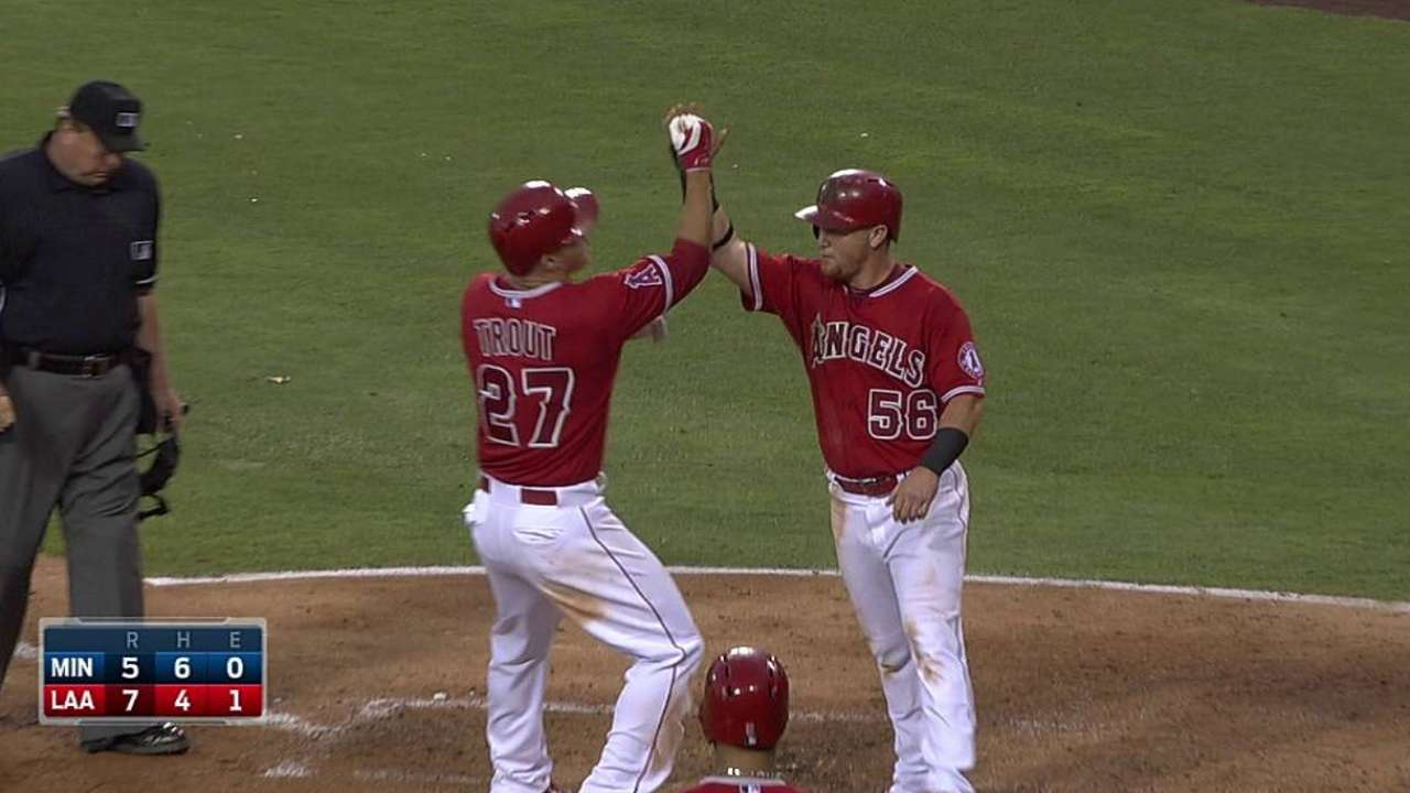 Angels' offense and bullpen bail Wilson out of trouble