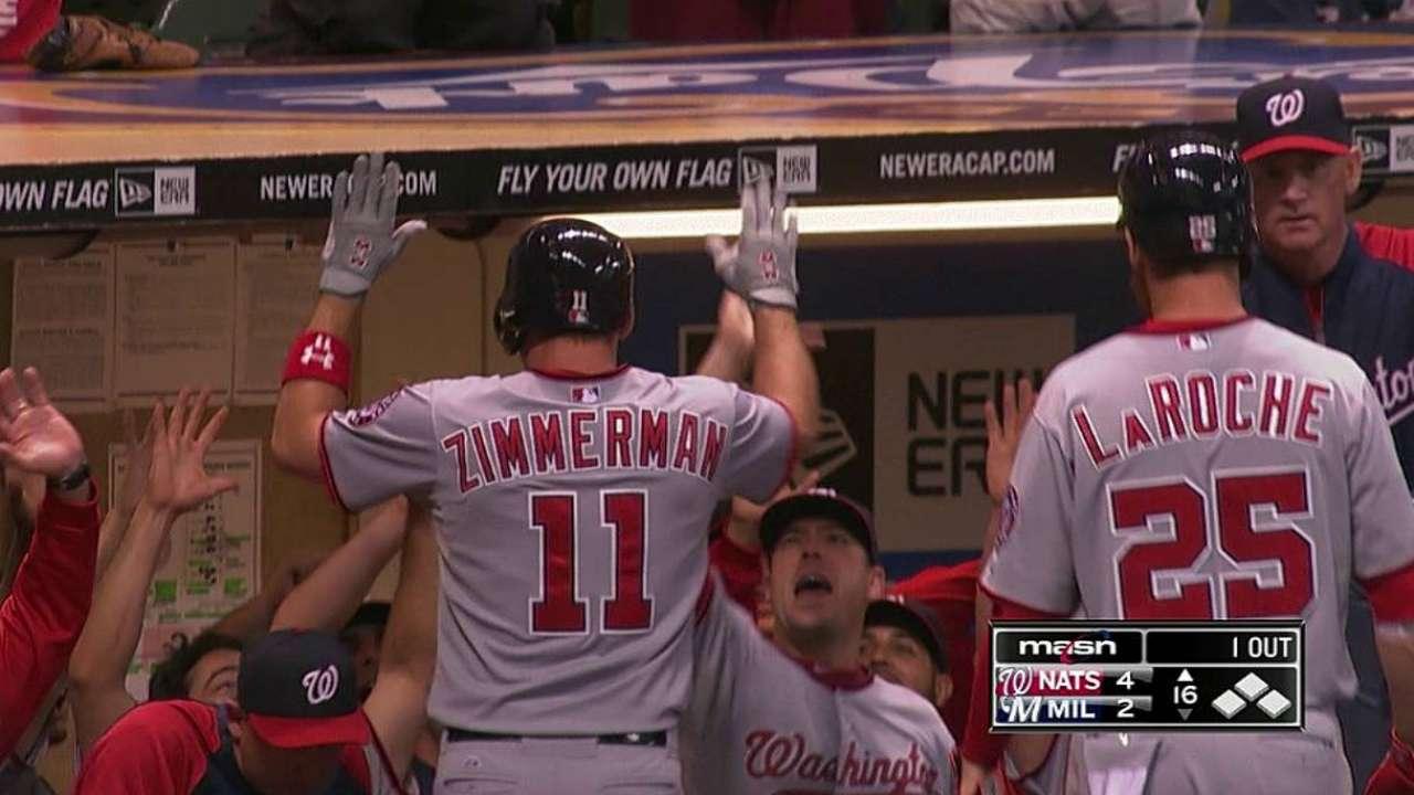 Zimmerman definió por los Nacionales en la 16ta