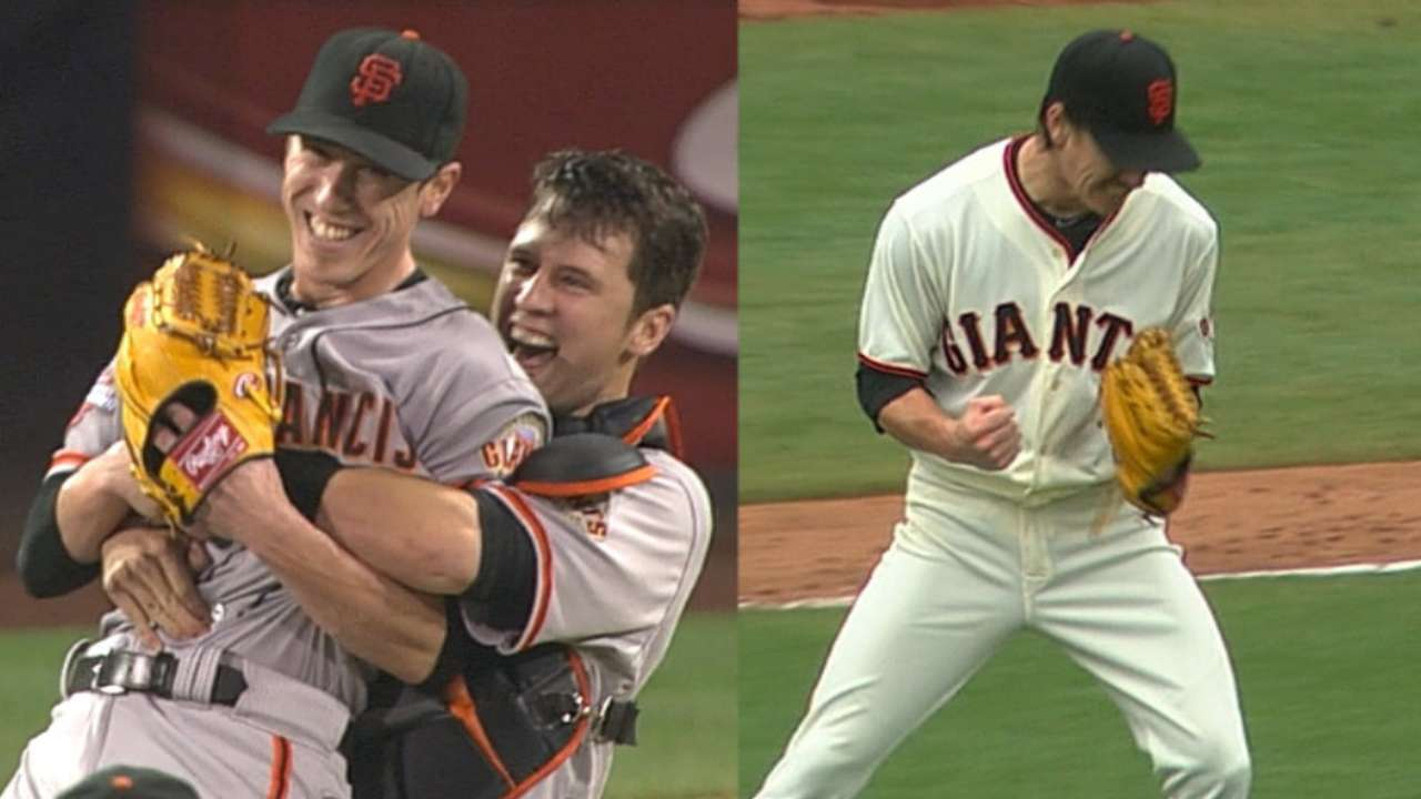 Cain reflects 10 years after Lincecum's debut