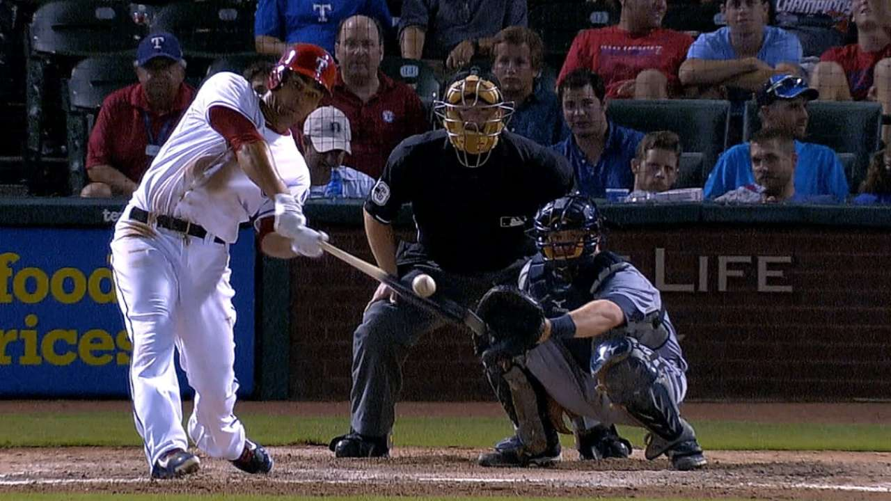 Pena provides pop in second game with Rangers