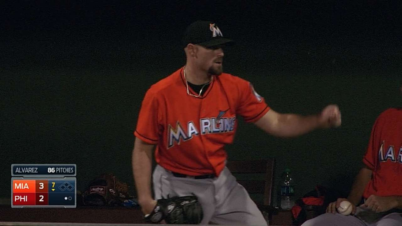 Marlins' hitless relief