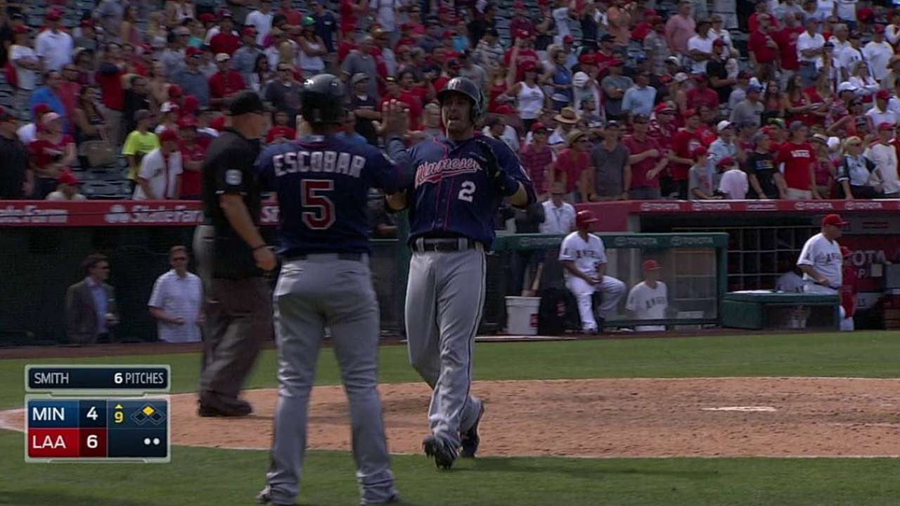 Twins overpowered by Angels' offense in finale
