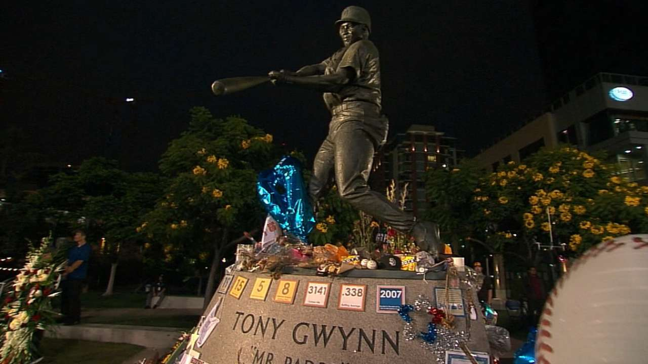 Padres mark the anniversary of Gwynn's debut