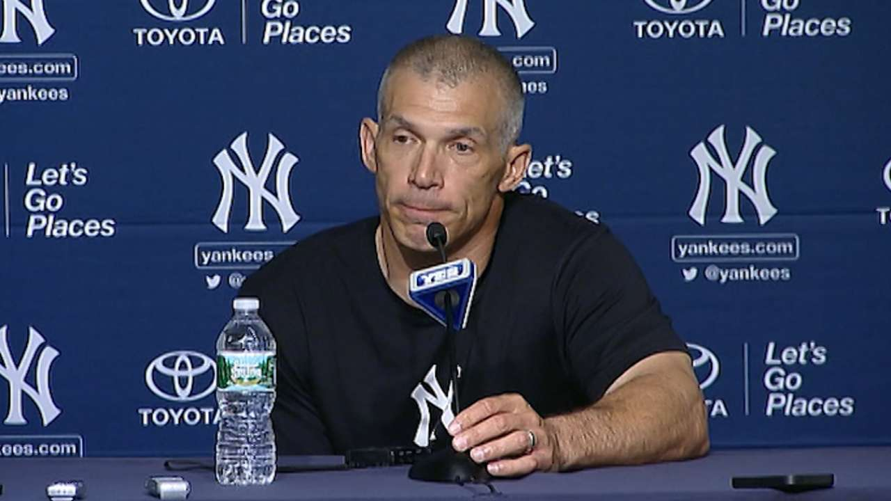 Girardi explains decision to keep Nuno on turn